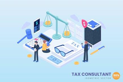 Ilustración del concepto de consultor fiscal
