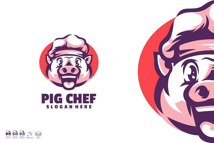 Thumbnail for Logo mignon du chef de porc