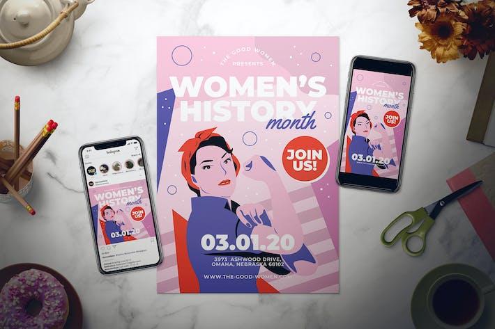 Thumbnail for Ensemble de dépliant pour le mois de l'histoire des femmes