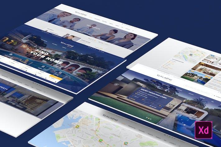 Thumbnail for RealHome - Vielseitige Adobe XD-Vorlage für Immobilien