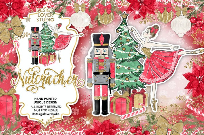 Thumbnail for Nutcracker Red design