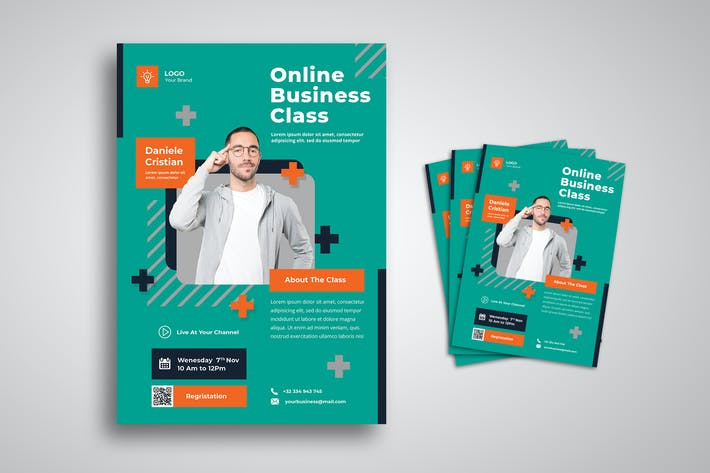 Thumbnail for Online Business Classroom Flyer