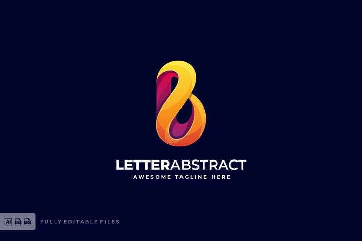 Thumbnail for Letter Abstract Colorful Logo Template