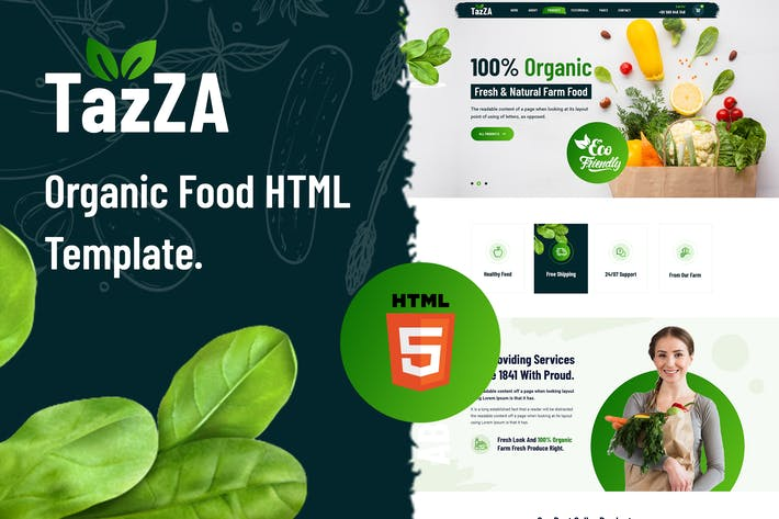 Thumbnail for TazZA - Organic Food HTML5 Template