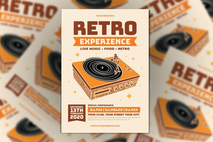 Thumbnail for Retro Experience Flyer