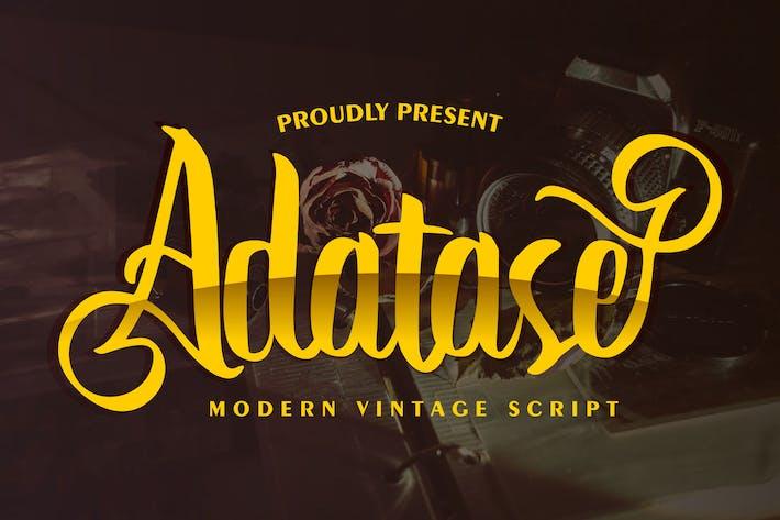 Adatase | Modern Vintage Script Font