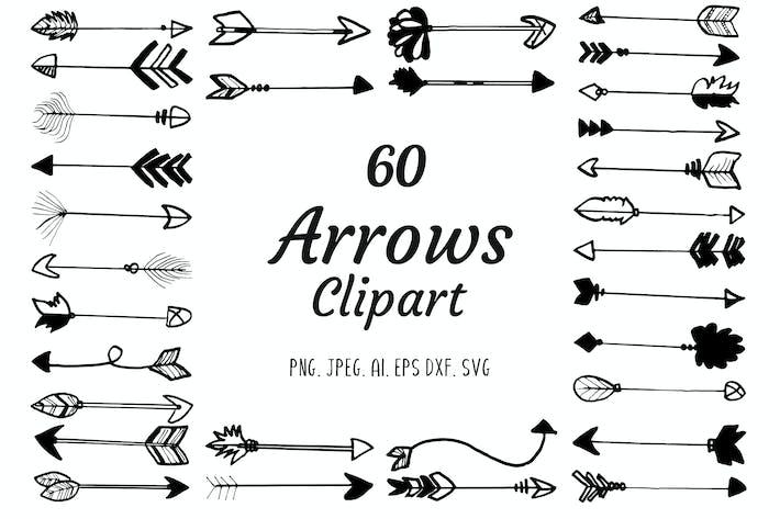 Thumbnail for 60 Premium Handmade Arrows Clipart