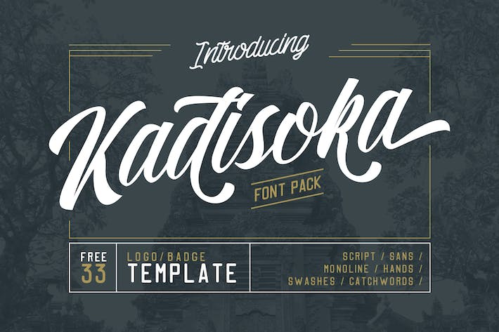 Thumbnail for Kadisoka family 5 Fonts