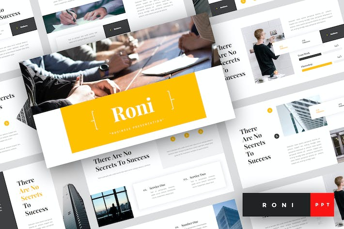 Thumbnail for Roni - Business PowerPoint Template