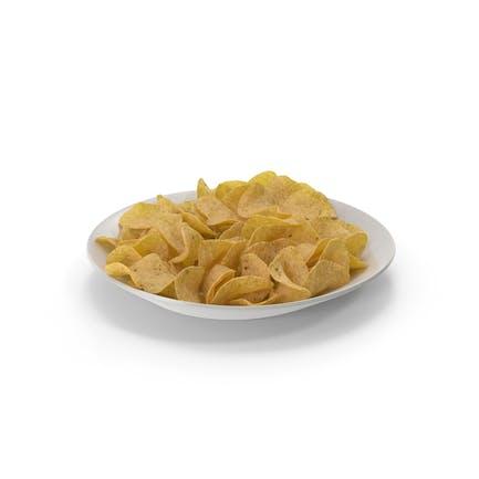 Тарелка с картофельными чи