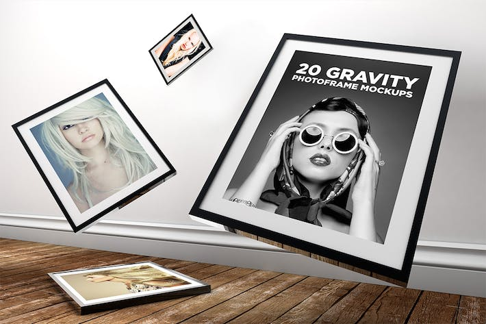 Thumbnail for 20 Gravity Photo Frame Mockups