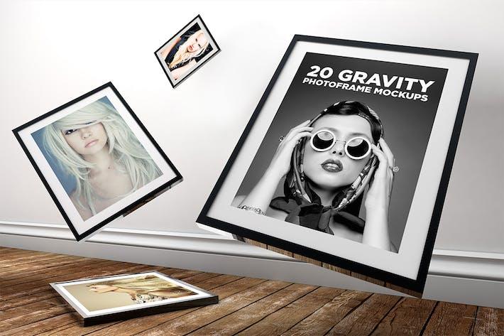 Thumbnail for 20 Gravity Photo Frame Mockups