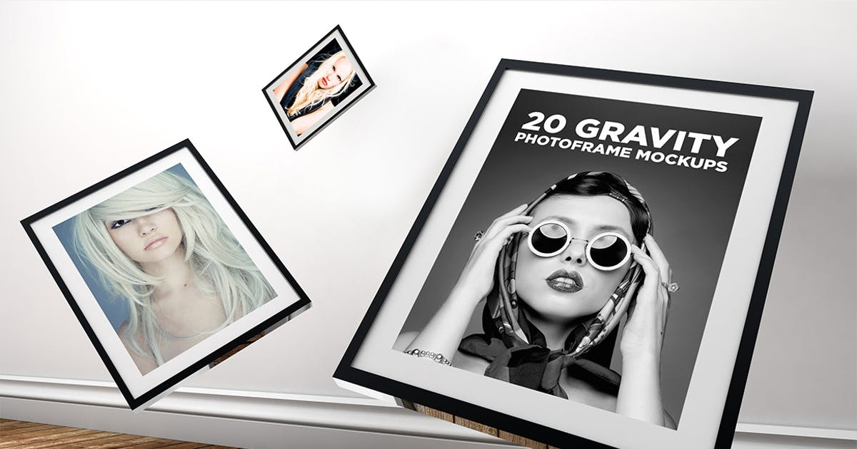 Download 20 Gravity Photo Frame Mockups by Layerform