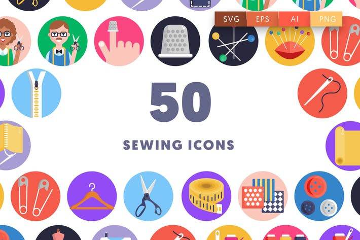 50 Sewing Icons