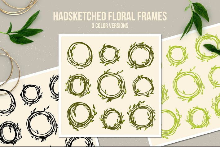 Thumbnail for Handsketched Floral Frames