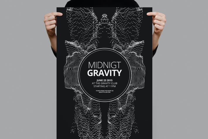 Thumbnail for Midnight Gravity Flyer / Poster