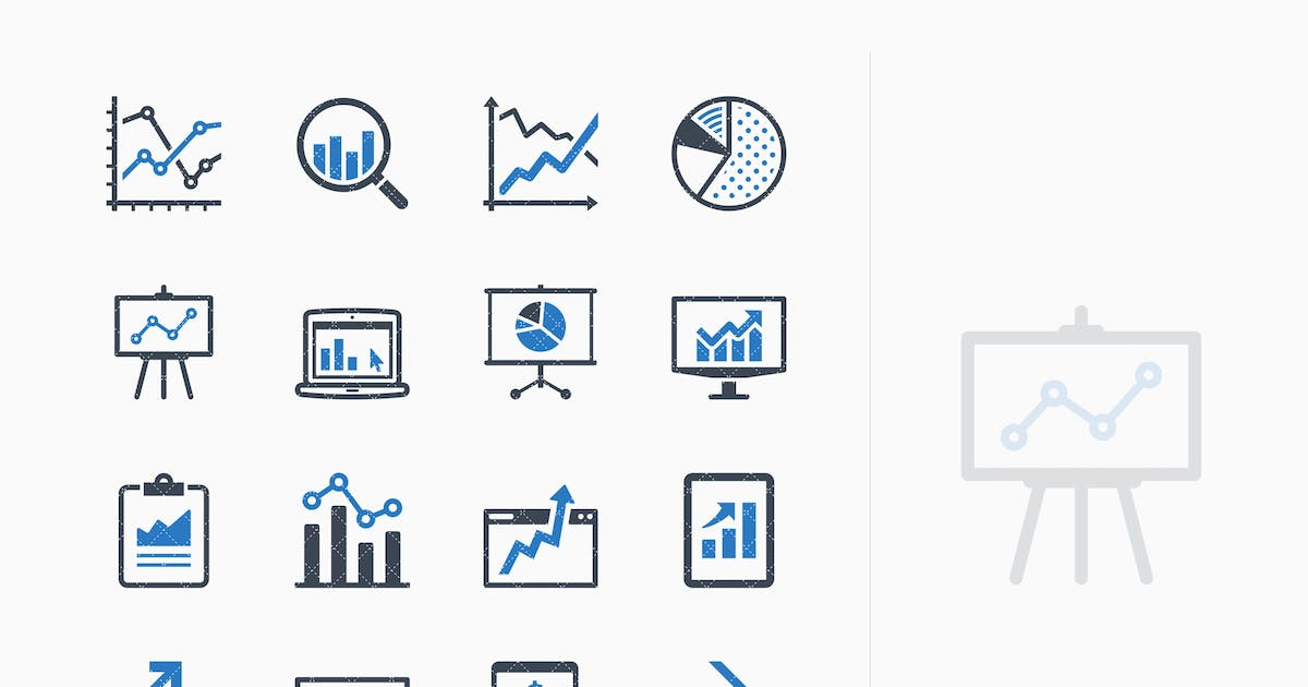 Download Business Graphs & Charts Icons - Blue Series by introwiz1