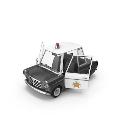 Cartoon Police Car Open Doors
