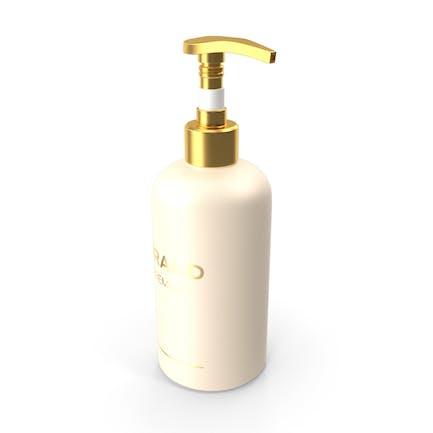 Botella de bomba cosmética dorada