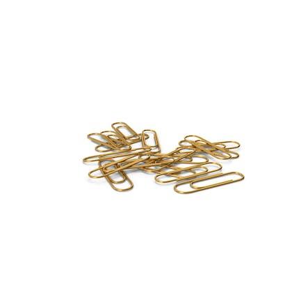 Pila de clip de papel dorado