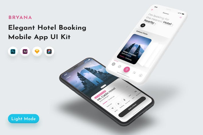 Thumbnail for Bryana Hotel Booking App UI Kit