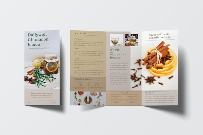 Thumbnail for Herbal Beverage Trifold Brochure