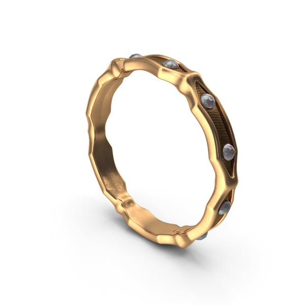 Thumbnail for Gold Ring With Small Diamonds
