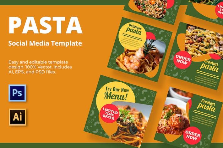 Pasta Vol2 Soziale Medien Vorlage