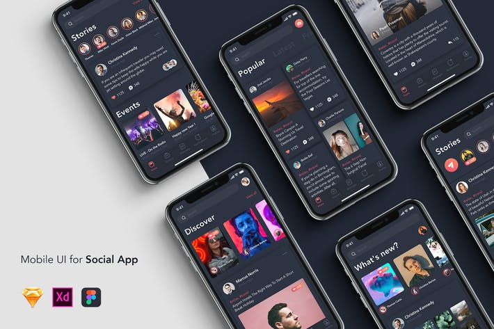 Thumbnail for 6 New Feed - Mobile UI for Social App