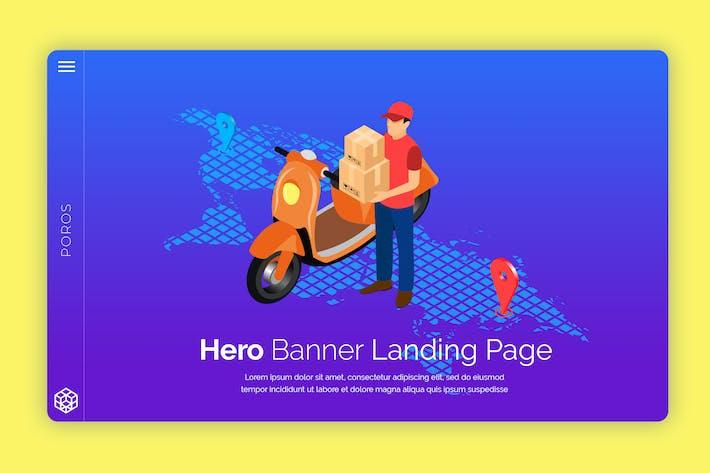 Thumbnail for Poros - Hero Banner Template