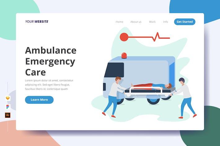 Ambulance Emergency Care - Landing Page