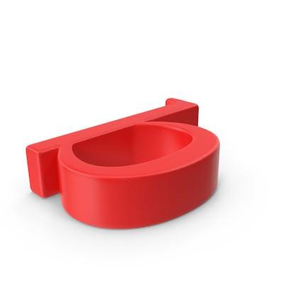Letra roja minúscula b