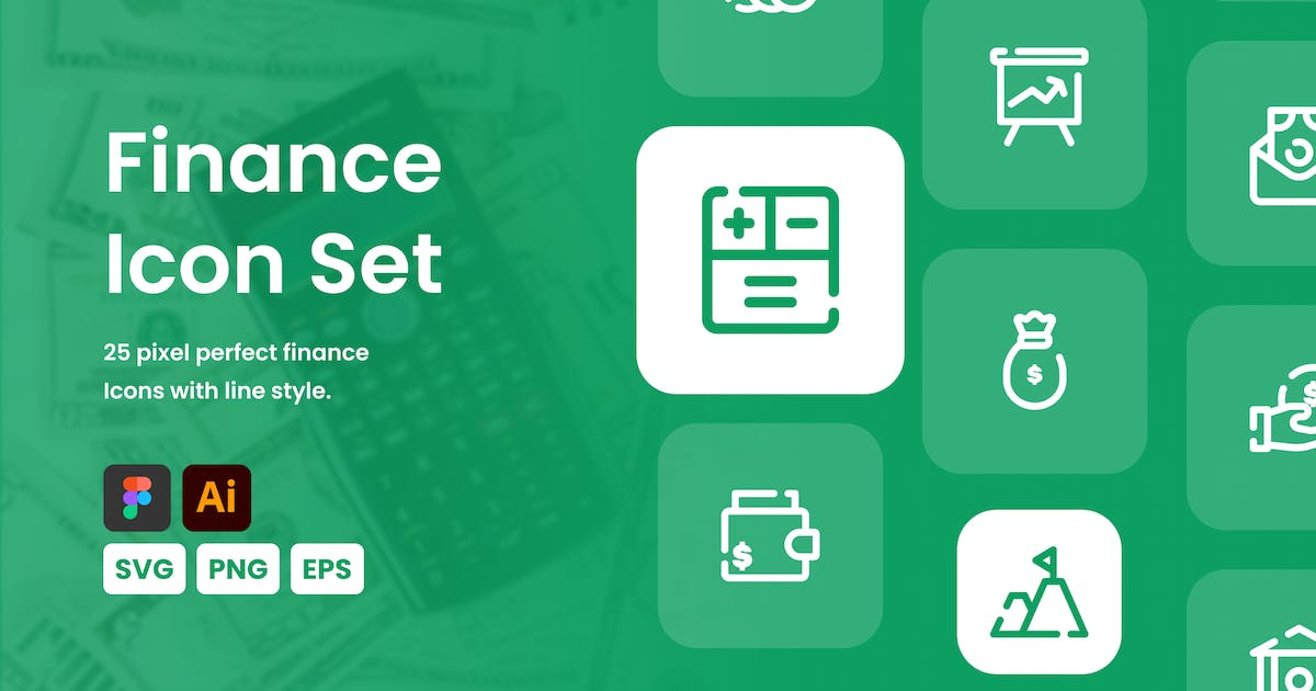 Download Finance Line Icon Set by mhudaaa