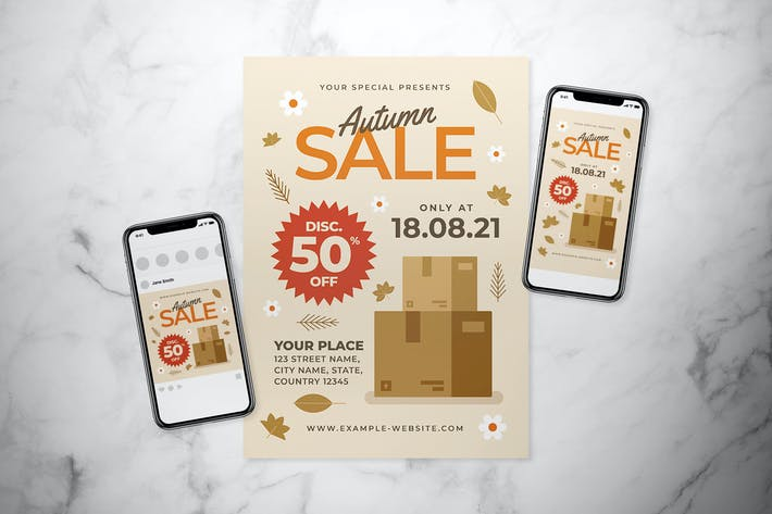 Autumn Sale Flyer Set