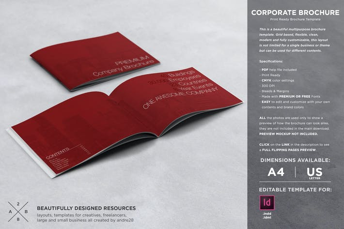 Premium Corporate Brochure by andre28 on Envato Elements