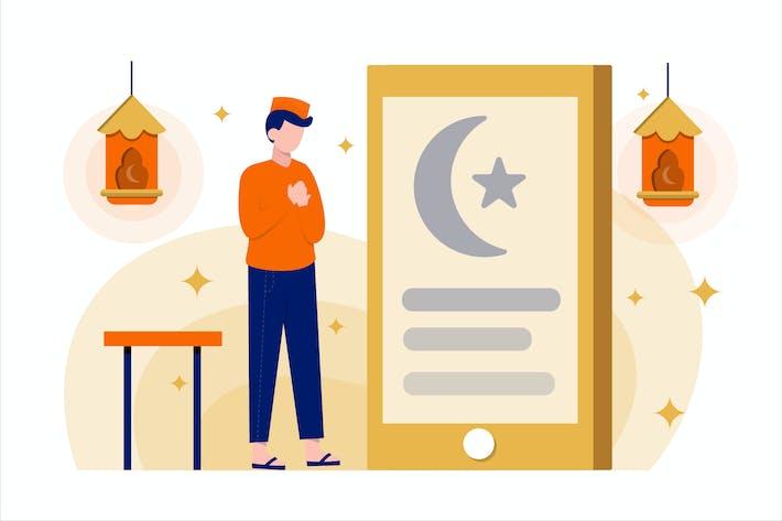 Thumbnail for Ramadan Fasting Flat Vector Illustration