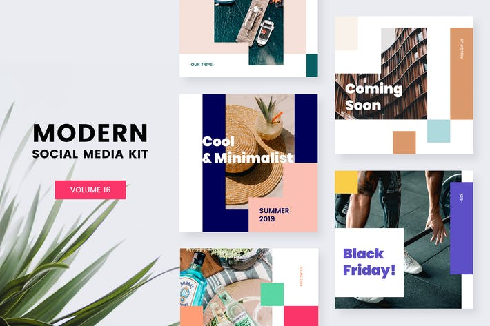 Thumbnail for Modern Social Media Kit (Vol. 16)