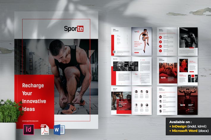 Thumbnail for SPORTE Sport Fitness & Gym Brochure