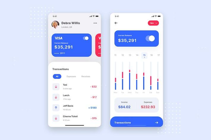Finance App UI Kit Template