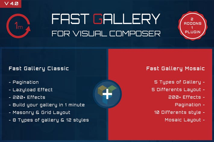 Thumbnail for Fast Gallery for Visual Composer Wordpress Plugin