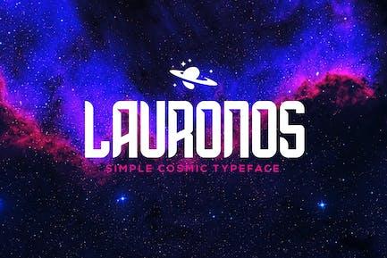 Lauronos typeface