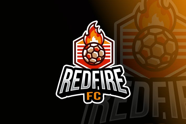 Thumbnail for Soccer Fire Ball Logo Template