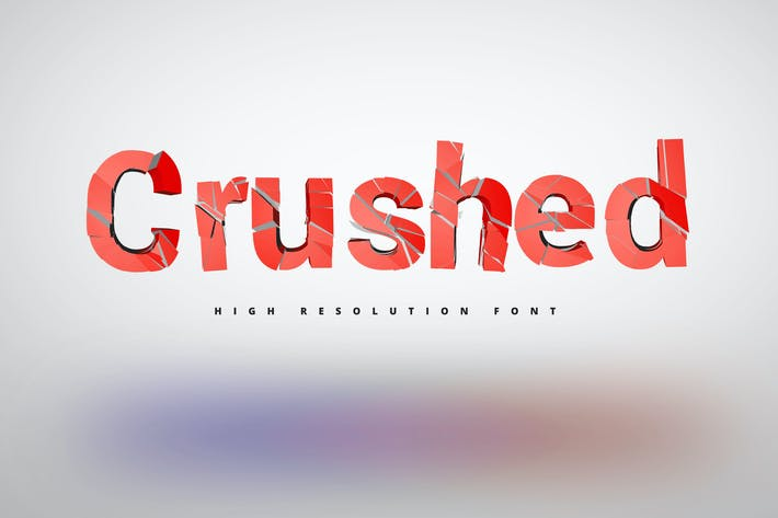 Thumbnail for Crushed Font