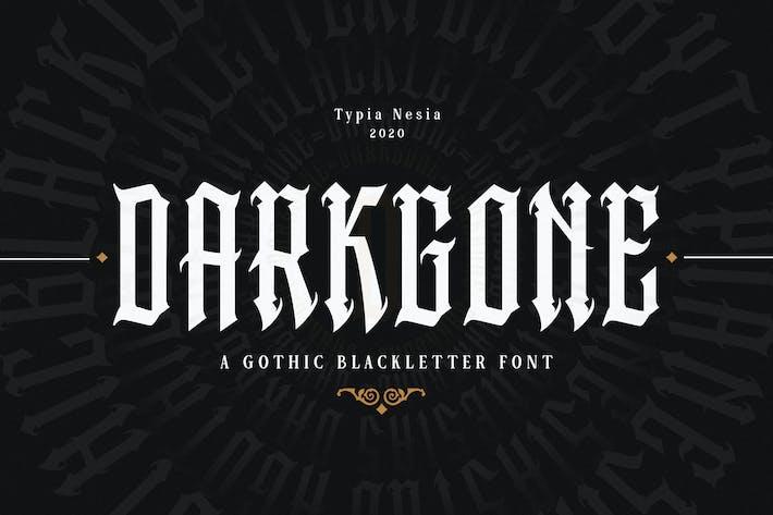 Thumbnail for Darkgone - Police gothique de la lettre noire