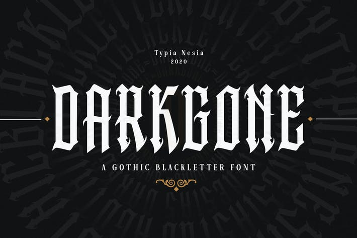 Thumbnail for Darkgone - Fuente de letra negra gótica