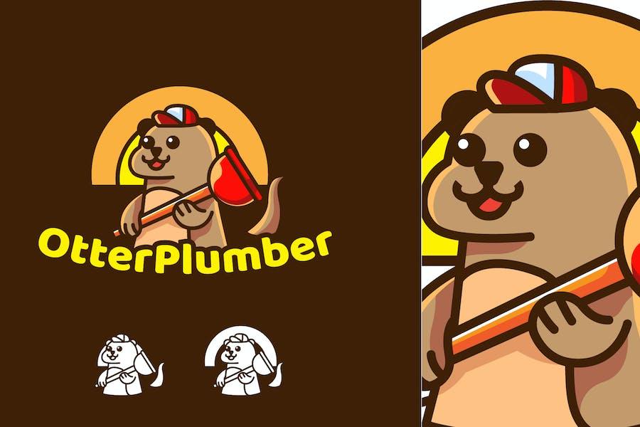otter plumber - Mascot & Esport Logo