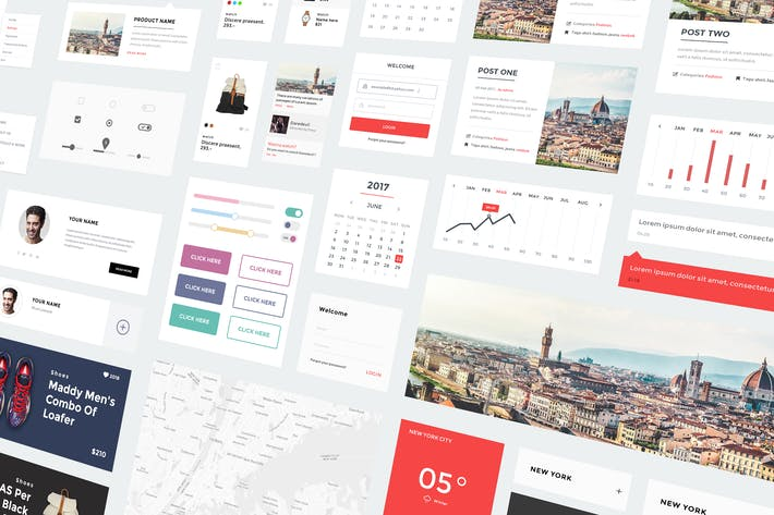awesome web ui kit by 0effortthemes on envato elements