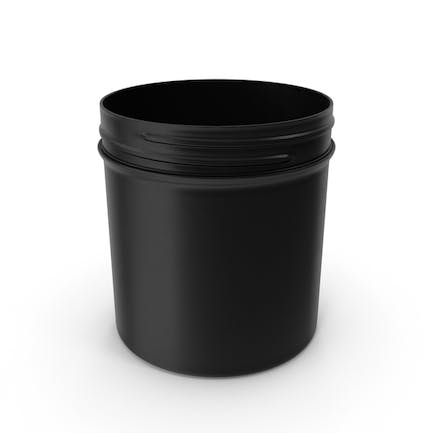 Plastic Jar Wide Mouth Straight Sided 19oz Without Cap Black