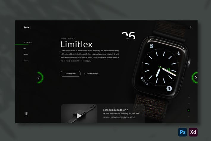 Smart Watch Store | Hero Header