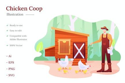 Hühnerstall Illustration
